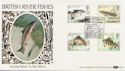 1983-01-26 River Fish Salmon Leap Coleraine FDC (57698)