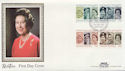 1986-04-21 Queen's 60th Birthday Stamps London W1 FDC (57711)