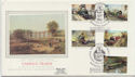 1985-01-22 Famous Trains Stamps Blenheim Silk FDC (57716)