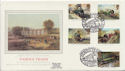 1985-01-22 Famous Trains Stamps NRM York Silk FDC (57718)