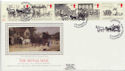 1984-07-31 Mailcoach Stamps Liverpool Silk FDC (57728)