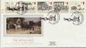1984-07-31 Mailcoach Stamps Manchester Silk FDC (57732)