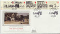 1984-07-31 Mailcoach Stamps Bath Silk FDC (57733)