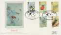 1985-03-12 Insect Stamps Hastings Silk FDC (57738)