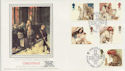 1984-11-20 Christmas Isle of Iona Silk FDC (57745)