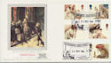 1984-11-20 Christmas Stamps London EC4 Silk FDC (57750)