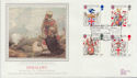 1984-01-17 Heraldry Stamps Fotheringhay Castle FDC (57775)