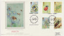 1985-03-12 Insect Stamps Freshwater IOW Silk FDC (57779)