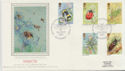 1985-03-12 Insect Stamps Edinburgh Silk FDC (57780)