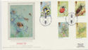 1985-03-12 Insect Stamps London SW Silk FDC (57782)