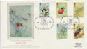 1985-03-12 Insect Stamps Alton Hants Silk FDC (57783)