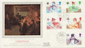 1985-11-19 Christmas Stamps Bethlehem Silk FDC (57849)