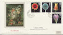 1987-01-20 Flowers Stamps Ipswich cds FDC (57891)