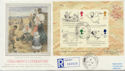 1988-09-27 Edward Lear M/S Stamps Derry Hill cds FDC (57892)