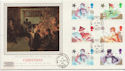 1985-11-19 Christmas Stamps Whittington cds FDC (57903)