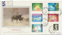 1987-11-17 Christmas Stamps Playing Place cds FDC (57908)