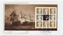 2005-10-18 Battle of Trafalgar Bklt Pane 2 FDC (58019)