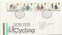 1978-08-02 Cycling Stamps Bureau FDC (58286)