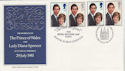 1981-07-22 Royal Wedding Charles and Di Doubled FDC (58433)