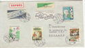 Czechoslovakia Stamps on Envelope sent to UK (58614)