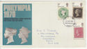 1970-09-18 Philympia Stamps Portsmouth FDC (58694)
