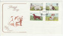 1979-02-07 Dogs Stamps Bristol FDC (58697)