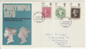 1970-09-18 Philympia Stamps Portsmouth FDC (58704)