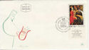 1969 Israel King David Chagall Stamp FDC (58733)