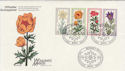 1975 Germany Welfare Flowers Stamps FDC (58738)