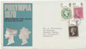 1970-09-18 Philympia Stamps Manchester FDC (58862)
