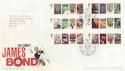 2008-01-08 James Bond Stamps T/House FDC (58873)