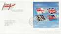 2001-10-22 Flags & Ensigns M/Sheet T/House FDC (58965)