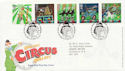 2002-04-09 Circus Stamps T/House FDC (58970)
