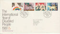 1981-03-25 Year of Disabled Bureau FDC (59055)