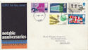 1969-04-02 SG 795Ey 1s9d Missing Phosphor Error FDC (59095)