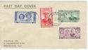 1947 Swaziland Royal Visit Stamps FDC (59211)