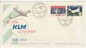 1959 Netherlands KLM Air Stamps FDC (59213)