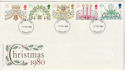 1980-11-19 Christmas Stamps Liverpool FDI (59414)