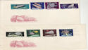 1964 Hungary Space Stamps Unused on x2 Covers (59435)