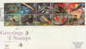 1991-02-05 Greetings Stamps Good Easter FDC (59470)