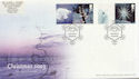 2003-11-04 Christmas Label Sheet Stamps Cold Blow FDC (59489)