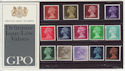 1969-03-05 Definitive Stamp P Pack No 8 (59509)