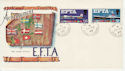 1967-02-20 EFTA Stamps Hadfield Hyde cds FDC (59579)
