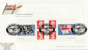 2001-10-22 Flags & Ensigns Booklet Stamps FDC (59586)