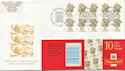 2000-01-06 HD53 Booklet Stamps Bureau FDC (59645)