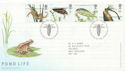 2001-07-10 Pond Life Stamps T/House FDC (59774)