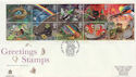 1991-02-05 Greetings Stamps Greetwell FDC (59781)