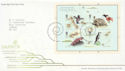 2009-02-12 Charles Darwin Stamps M/S T/House FDC (59805)