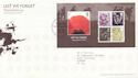 2007-11-08 Lest We Forget M/S T/House FDC (59834)