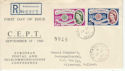 1960-09-19 Europa Stamps Rickmansworth cds FDC (59886)